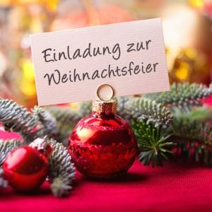 Weihnachtsfeier am Samstag, den 18. Dezember 2021